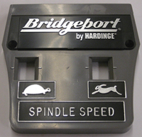 Plastic Face Plate w/Bridgeport by Hardinge Logo