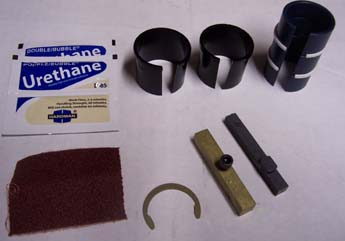 Bridgeport 2HP Delrin Bushing Kit w/Front Inserts & Key