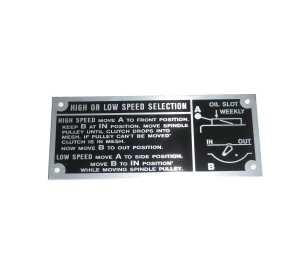 Hi-Low Range Nameplate