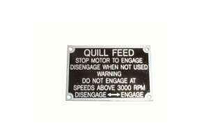 Quill Feed Nameplate