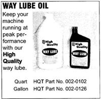 Way Lube Oil, Quart